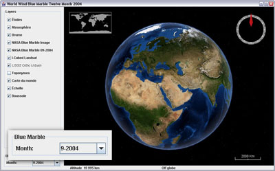 Blue Marble twelve month for WorldWind Java