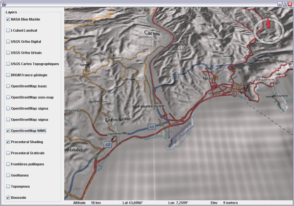 OpenStreetMap layer for WorldWind Java